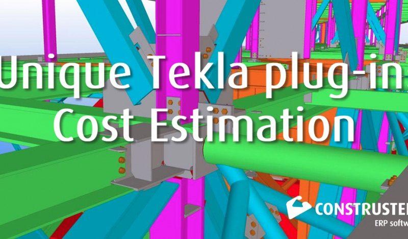 Unique Tekla plug-in: Cost EstimationUnique Tekla plug-in